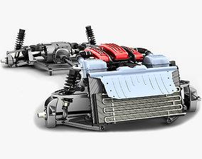Ferrari Chassis FF - V12 Engine Tipo F133E AWD 3D model