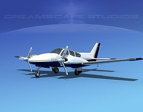 Beechcraft B55 Baron V20 3D model