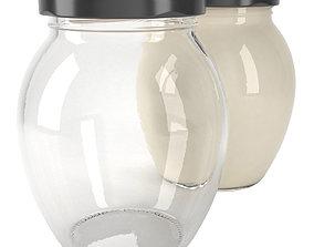 3D jar glass type14