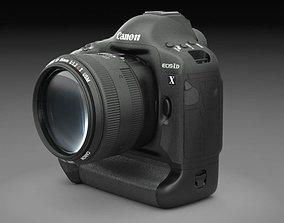 3D Canon Eos 1D-x DSLR Camera
