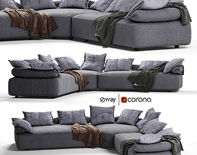 Flick Flack Sofa Ditre Italia 3D model