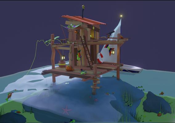 Fishing Shack Scene