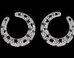 cheetah earrings famale 3D print model