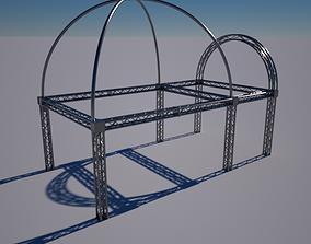 3D model Truss Wedding stage Octane Render Free download