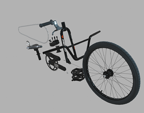 3D model BMX-racing bike kit
