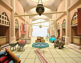 Lowpoly Arabic Bazzar 3D model