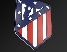 Atletico Madrid FC Football Club 3D Logo game-ready