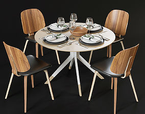 Dining table and chairs dining 3D