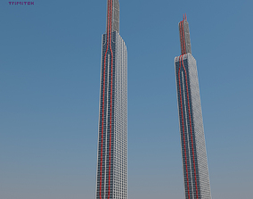 Futuristic Sci-Fi Skyscraper 05 3D model