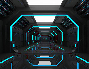 SCI FI INTERIOR SCENE SPACE SHIP 3D model low-poly