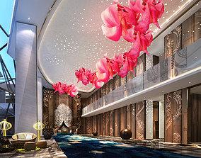 3D model Australian hotel lobby