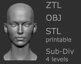 Female head 6 3D