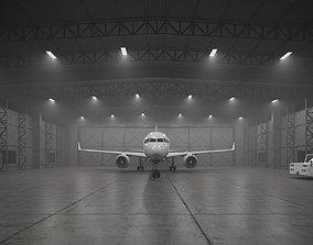 CA - Airplane Hangar Warehouse 3D asset