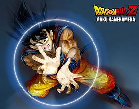 Goku Kamehameha 3D