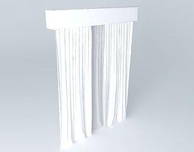 Curtain white 3D model