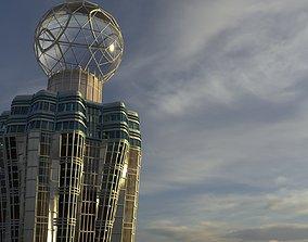 Skycraper Elista Business Center 3D model architecture