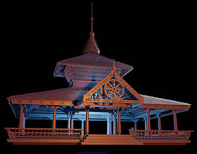 3D model Temple kerala style