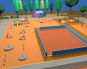 Playground Low Poly 3D model