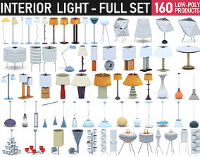 3D asset low-poly Interior Light Collection