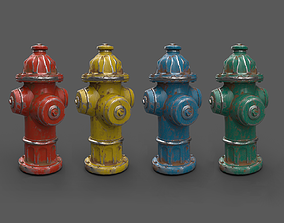 3D asset Water Hydrant variations