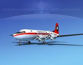 3D model Douglas DC-4 Invicta Airways