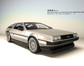 3D asset Delorean DMC