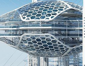 3D model Futuristic Architectural Structure 16