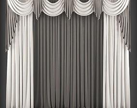 Curtain 3D model 182 VR / AR ready
