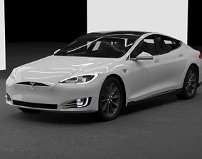 electriccar TESLA model S - 3D model