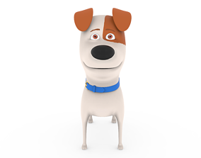 Cute Dog cartoon - Max 3D asset