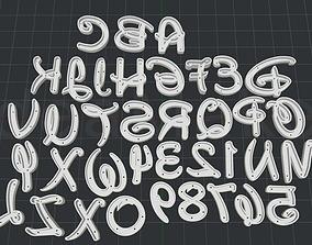 Alphabet Cutter Walt D 3D print model