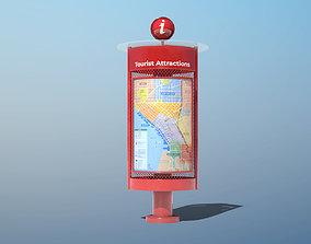 Wayfinding Kiosk 3D model