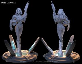 Female Halo Spartan Battle damage 3D print