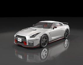 3D asset Low poly Nissan GT-R Nismo 2018