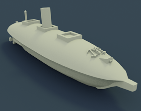 CSS Manassas 1861 3D print model