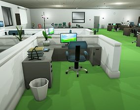 Low Poly Office Props 3D model
