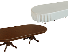 Wood table 3000 3D