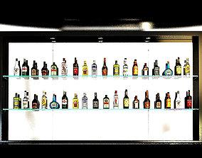 3D alcohol bottles collection