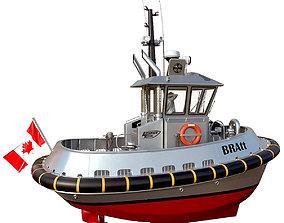 Ultra compact ASD tugboat 3D model