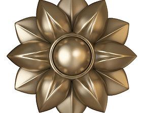 cnc flower rosette 3D printable model