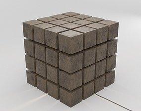 Lamp of Granite Cube 3D asset low-poly