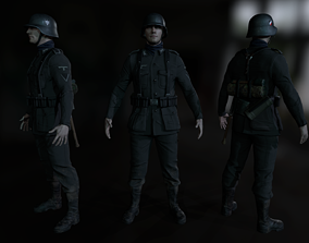 Wehrmacht soldier 3D asset