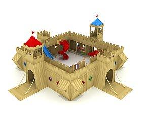 Huge Castle Playground 008 public 3D model