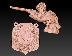 3D print model Badge Man soldier