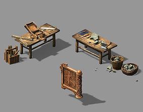 3D model Woodcarving-carpentry-stonemason-table