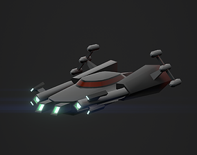 3DP Spaceships Collection - The Koury low-poly