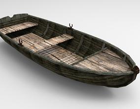 3D asset Boat wood