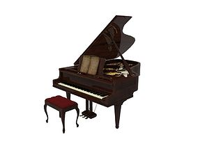 3D model low-poly Piano