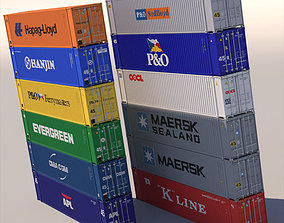 45 ft ISO Containers 3D model