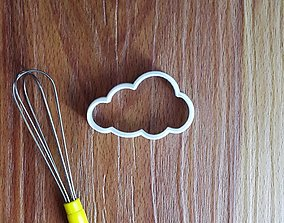 frosting 3D printable model Cloud Cookie Cutter